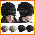 10xFashion Winter Women Men Winter Thick Warm Oversized Cable Knitted Baggy Slouch Beanie Hat Free Shipping