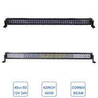 4D 5D Offroad LED Light Bar 400W Driving Lamp 12V 24V Car Truck ATV Tractor Wagon