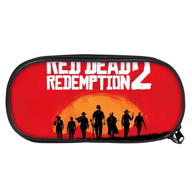 Red Dead: Redemption 2 Pencil Box Cosplay Studants Bag Costume Accessories Party Props Dropship