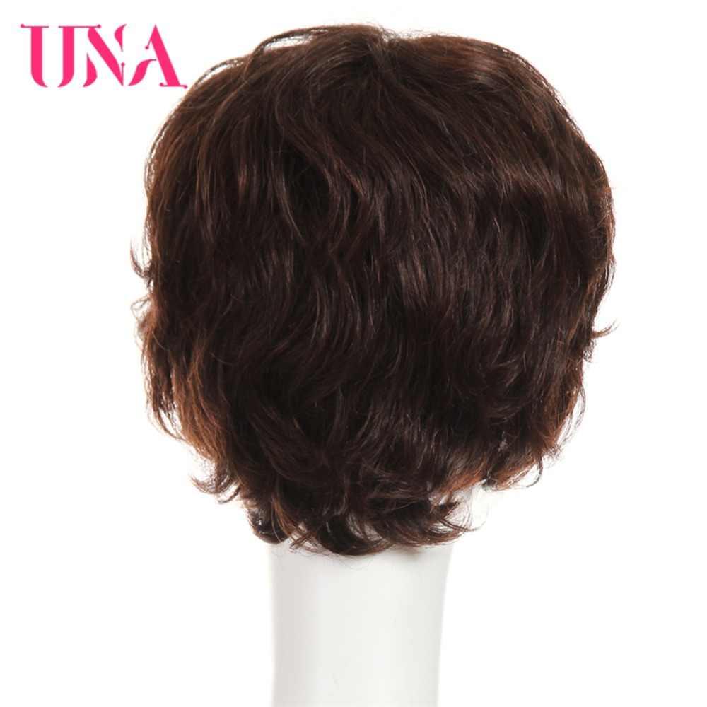 UNA peluca de cabello humano no Remy brasileño para mujer, Onda de fantasía, 150% densidad, Color #2/33 #1 # 1B #2 #4 #27 #30 #33 # 99J # BUG #350