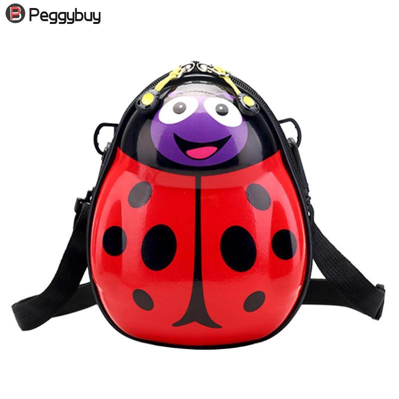 2018 New Cute Kids Cartoon Backpacks Kindergarten Children Eggshell Shape Hard Case Zipper Shoulder School Bags Quality Backpack