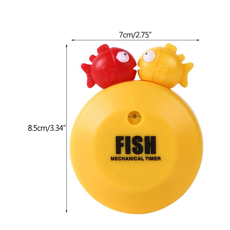 Cute Cartoon Bubble Fish Timer Mechanical Clockwork Creative Home Kitchen Baking Reminder Timer Artifact in Baking Pastry Tools from Home Garden