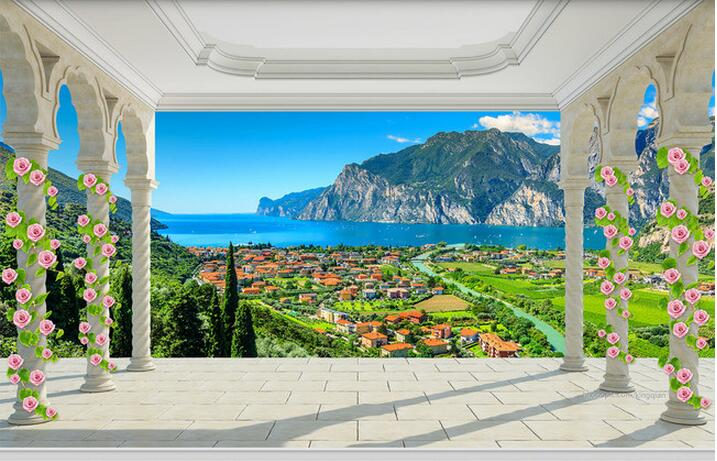 3d wallpaper custom mural non woven wall stickers balcony for 3d wallpaper for home malaysia
