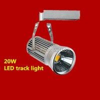 10 teile/los Freies verschiffen 20 watt FÜHRTE Schienenstrahler 85 ~ 100LM/W schienenlicht AC85 ~ 265 V  Integrierten chips 2 PIN