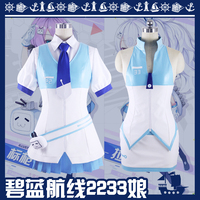 collection Dresses Azur Lane USS Laffey DD 459 Uniform Women Skirt Lady White Battleframe Cosplay Costume Adult Outfit Clothing