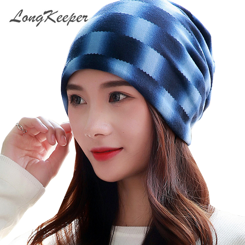 LongKeeper Hip-Hop Skullies And Beanies Women Hats And Caps Fashion 3 Uses Hat Knitted Scarf Autumn Winter Lady Beanie Gorros [jamont] love skullies women bandanas hip hop slouch beanie hats soft stretch beanies q3353