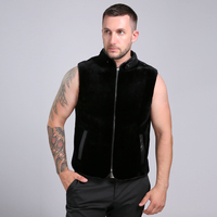 2016 New Arrival Two Sided Wear 100 Genuine Mink Fur Men S Fur Sleeveless Vest 70