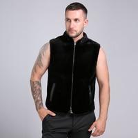 2016 New Arrival Two Sided Wear 100 Genuine Mink Fur Men S Fur Sleeveless Vest 70