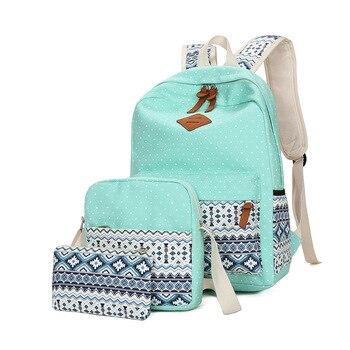 YK-Leik 2018 fashion ethnic style women backpack High quality canvas backpacks kids school bags for girls mochila feminina 2