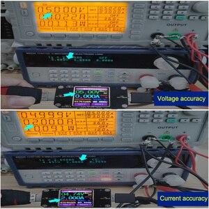 Image 3 - A3 USB tester צבע Bluetooth סוג דיגיטלי מד מתח dc מתח הנוכחי מד מד זרם גלאי כוח בנק מטען מחוון