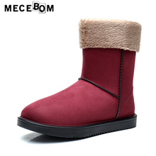 Women's vogue rainboots new winter plush woman snow ankle boots girls flat sneakers sapato feminino dimension 35-40 350w