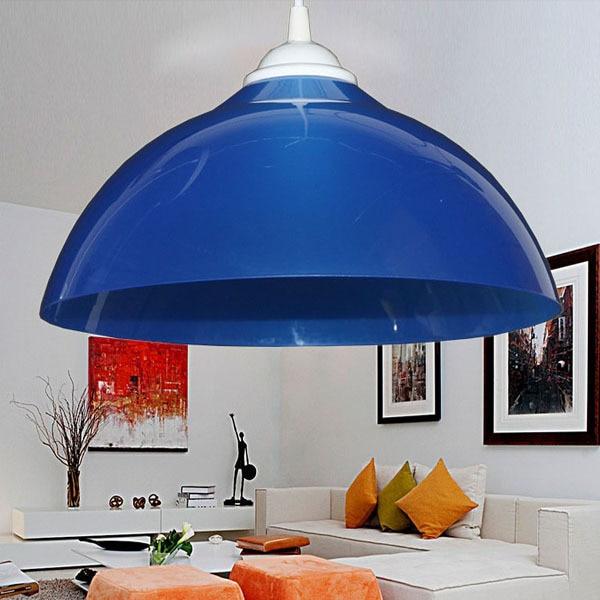 Simple Restaurant Pendant Lamp Shade Single Color Creative Lighting 100-220V PVC Colorful lampshade