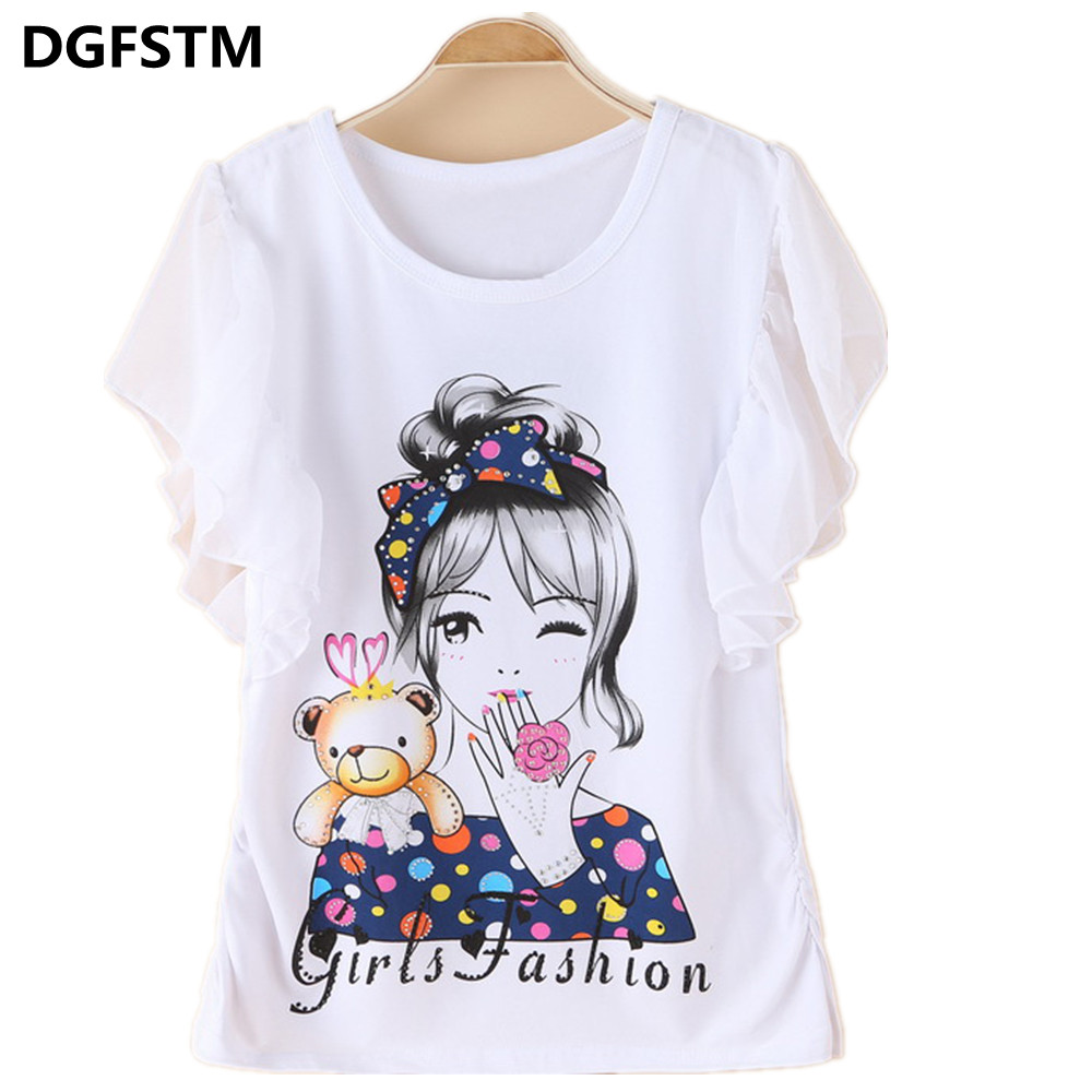 7 14y 2017 New Brand Girls T Shirt Short Sleeve Top Summer