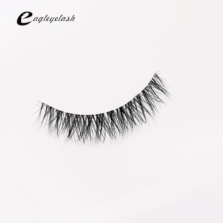 Top Sale 3D Mink Lashes Natural HandMade Full Strip Lashes Transparent Terrier Short Mink Lashes Style False Eyelashes NL-7