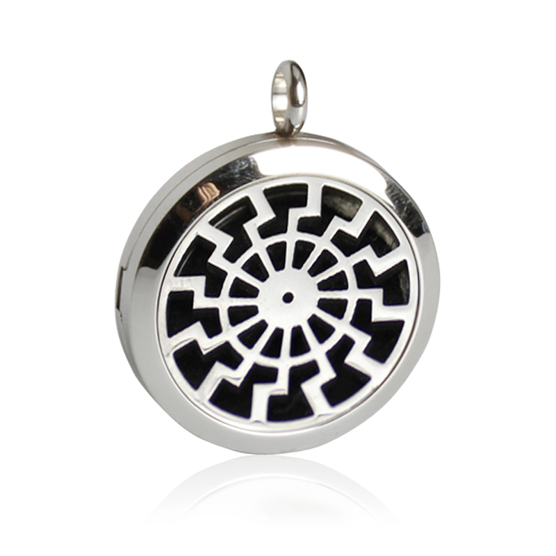 Free Shipping!Trendy Style Perfume Locket Pendant Stainless Steel Essential Oil Magnetic Diffuser Locket Necklace With Felt Pads