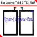 "7.0"" New Black Touch Screen Digitizer Glass Replacement For Lenovo Tab3 7 TB3-710F Free Shipping with tracking number"