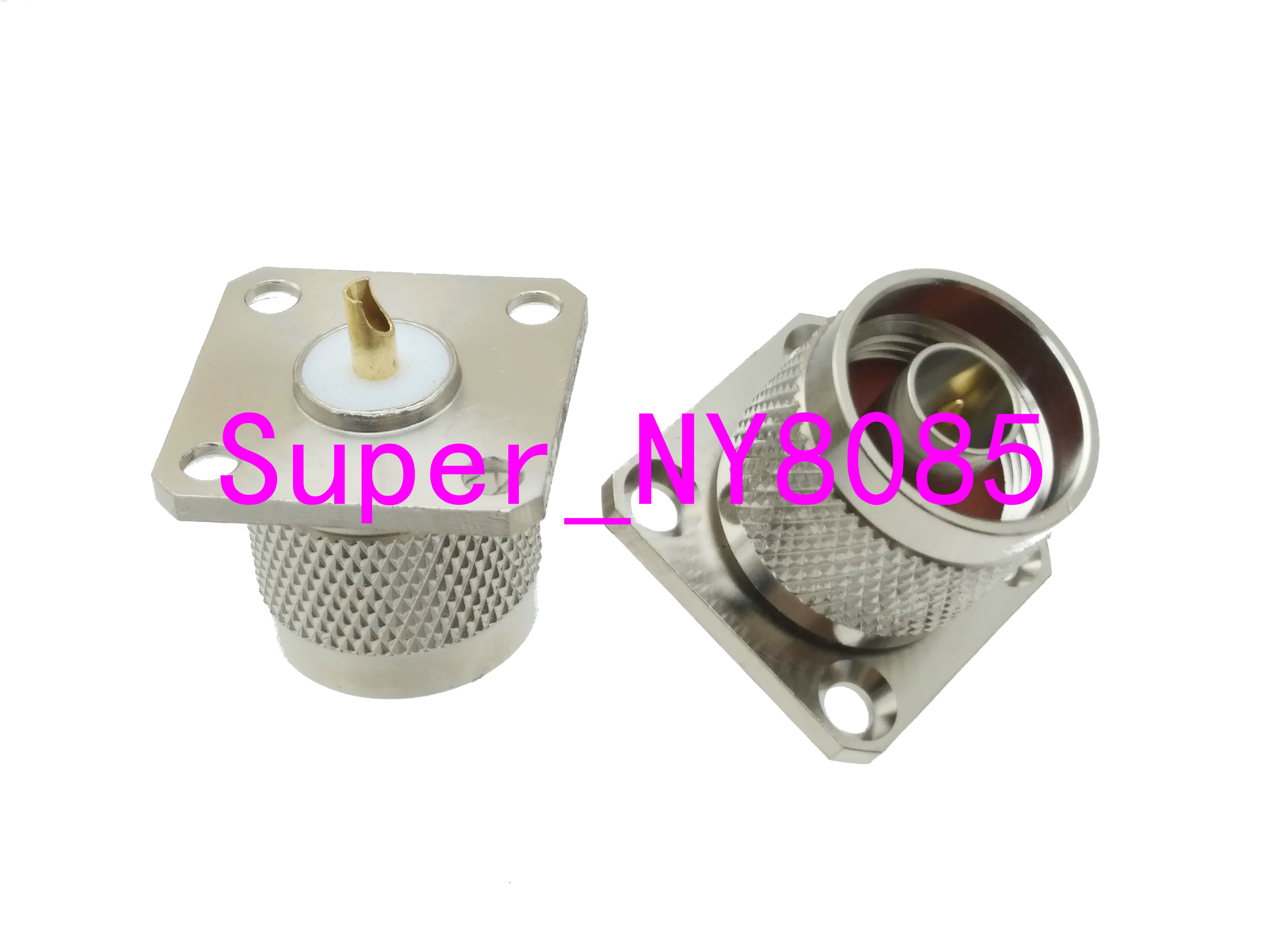 Connector N Male Plug 4-holes Flange Solder Panel Mount RF Coaxial