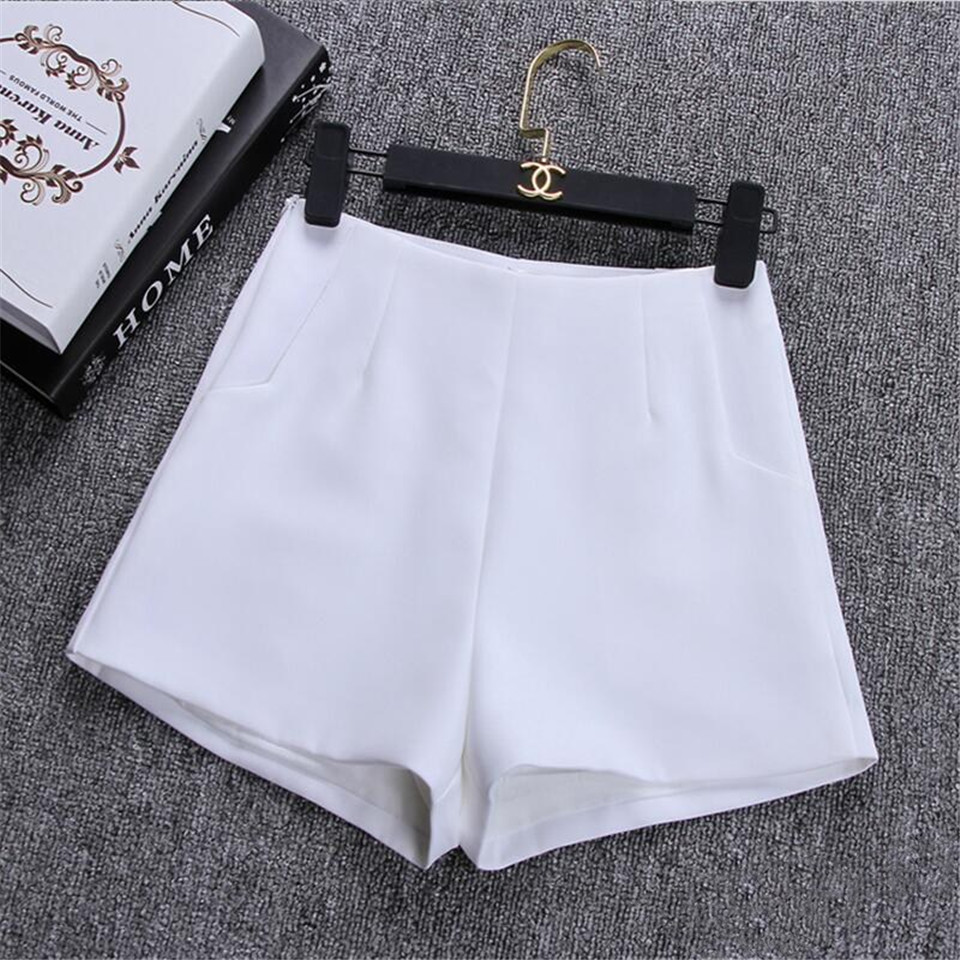HTB1W1mpaXkoBKNjSZFEq6zrEVXaL - New Summer Women Shorts Skirts Casual High Waist Shorts Female Black White Short Pants Hot Fashion Lady Shorts For Women