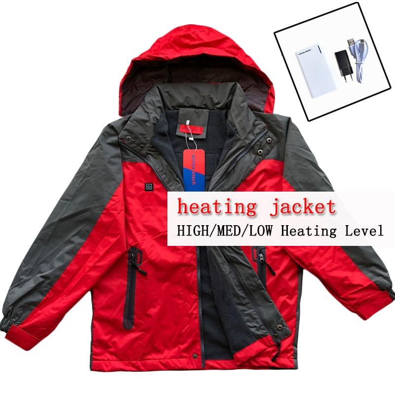NEW heated Jacket Winter USB charging jacket women outdoor Ski jacket men camping jackets Windproof Waterproof Thermal pelliot new ski jacket men women couple