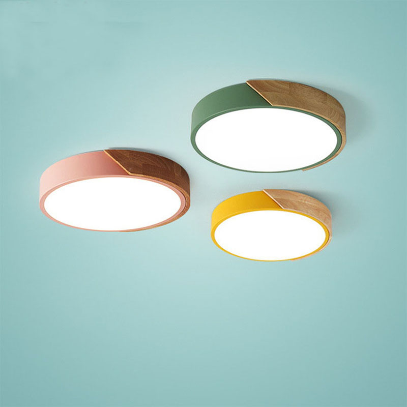 Modern simple round led ceiling lights acrylic ceiling lamps for kitchen living room bedroom study corridor