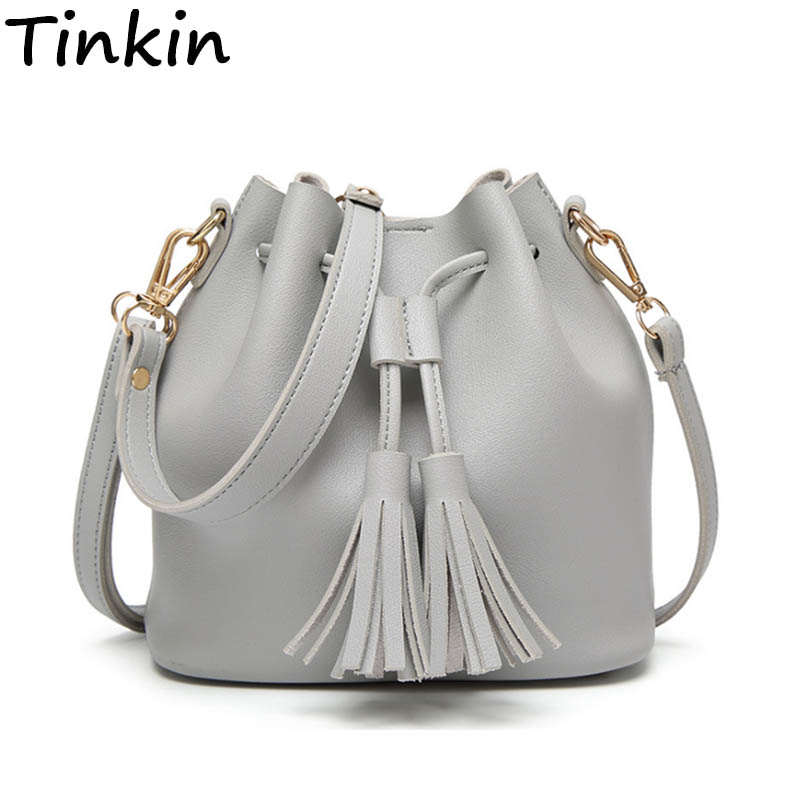 Tinkin Summer Tassel Women Shoulder Bag Casual Messenger Bag Match Women Bag Kleur: bruin, grijs, groen
