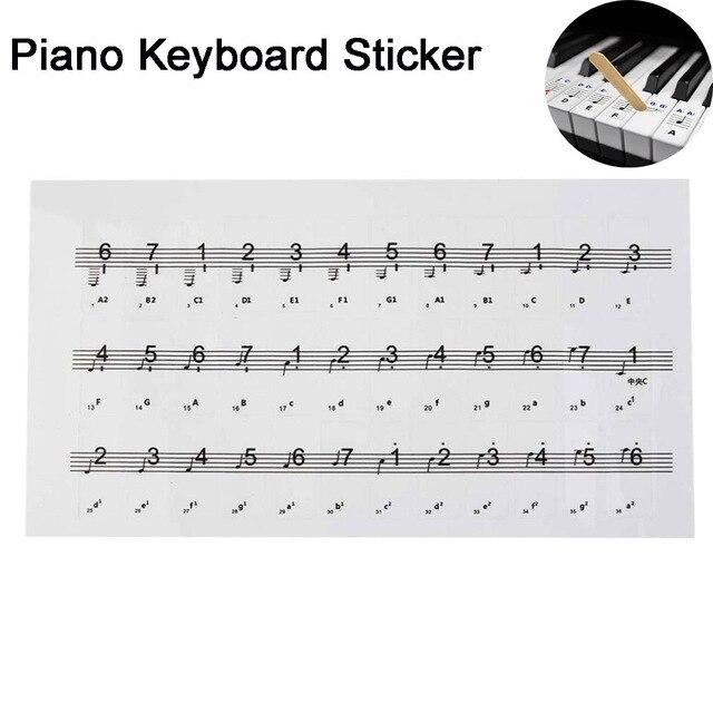 Durable transparent piano keyboard sticker 546188 key electronic durable transparent piano keyboard sticker 546188 key electronic keyboard 88 key piano ccuart Images