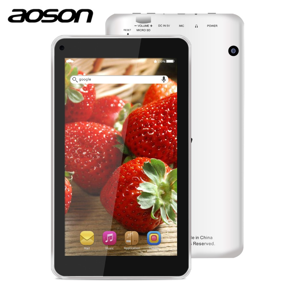 Aoson M751S BS multi task 7 inch Tablets Android 4 4 Quad Core Wifi 512MB RAM