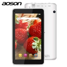 Aoson M751S-BS multi tarea 7 pulgadas Tabletas Android 4.4 Quad Core Wifi 512 MB RAM 8 GB ROM de Doble Cámara 0.3/Externa 3G Bluetooth 2MP