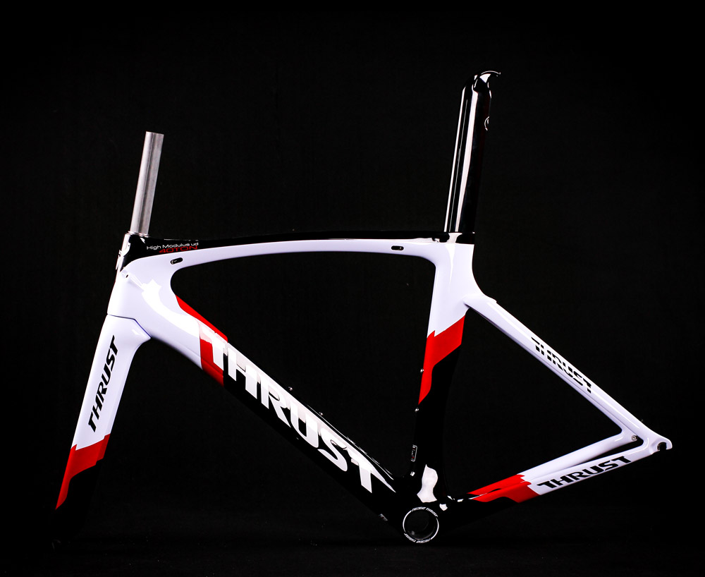 2019 New coming TOP-FIRE New Design 700C carbon V brake road frame UD THRUST Bike t1000 flat mount carbon(China)