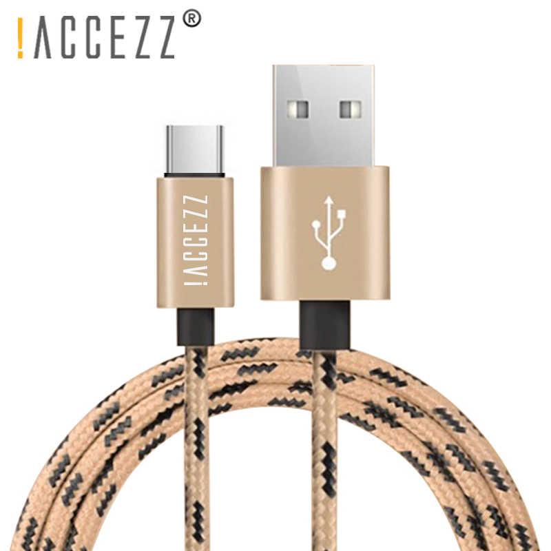 ! Accezz Kabel Data Pengisi Daya USB Tipe C untuk Xiaomi 5 6 Samsung Gaxaly S8 S9 Plus Charge Cord untuk OnePlus 6 5 5T Cepat Charger Line
