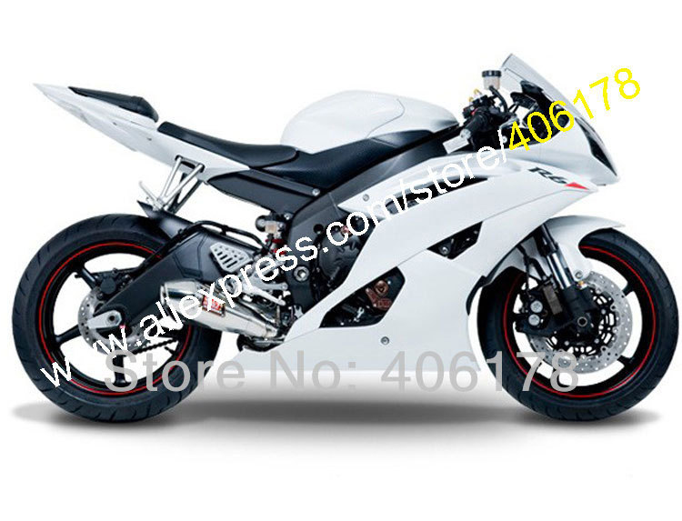 Hot Sales,New YZF-R6 2008 2009 2010 2011 2014 2015 2016 bodykit For Yamaha Full white YZF600 R6 Moto Fairing (Injection molding) hot sales for yamaha yzf600 r6 fairings kit 2008 2009 2010 2011 2012 2013 2014 yzf r6 motorbike body yzfr6 injection molding