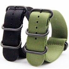 Купить с кэшбэком 26MM Sport Style Men Watch Band Watchstrap Bracelet Replacement For Garmin Fenix3 Fenix 3 Smart Watch Zulu Canvas Nylon Strap