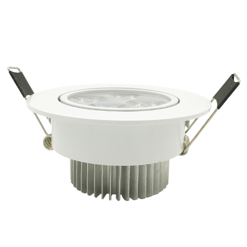 Dimmable3X3W 9W 4X3W 12W Led downlight Led Recessed lamp Led Bulb 95-265V led light with led driver