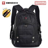 Swisswin Merk Fashion School Rugzak Voor Tiener Jongens Zwitserse Waterdichte 15.6 Laptop Rugzak Mannen Rugzak Tas Vrouwen Satchel Bag