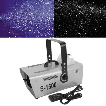 цена на Pro 1500W Snow Maker Snowflake Machine Stage DJ Flake Effect Two Speed Maker