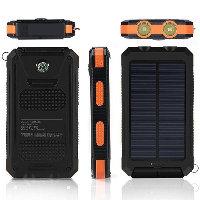 Vogek Solar Power Bank Waterproof Solar Phone External Battery 20000mah LED Powerbank Portable Mobile Phone Charging Pool in Power Bank from Cellphones Telecommunications