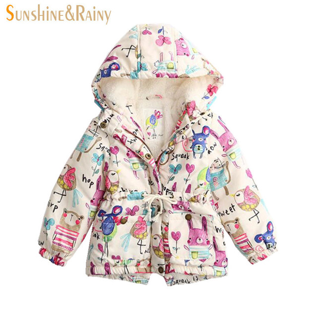 3a0e36fc4dcc8 Clearance ~ Cartoon Children s Outerwear Animal Graffiti Jackets Coats For  Girls