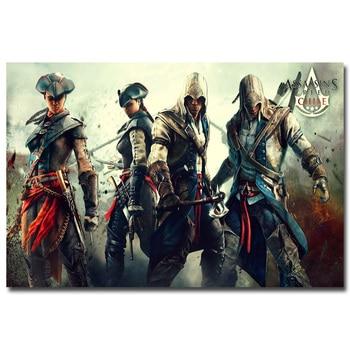 Шелковый Плакат гобелен Кредо убийцы Assassins Creed 3