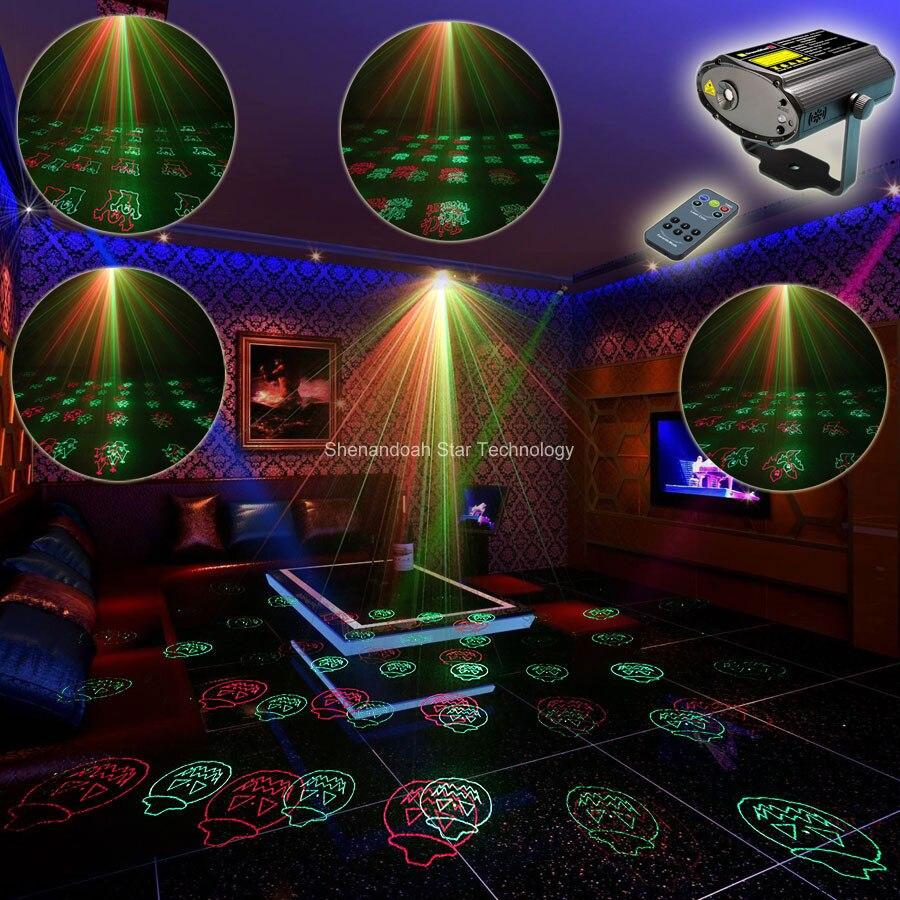 ESHINY Mini R&G Laser 12 Halloween Patterns Projector Dance Disco Bar Family Party Xmas DJ environment lighting Light Show T105 eshiny mini red green laser projector 20 patterns christmas party dj lighting lights disco party bar dance stage light show y21