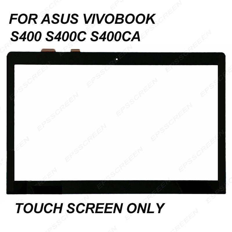 """FULL TESTED for ASUS VivoBook S400 S400C S400CA digitizer panel touch screen 14"""" tablet front glass without frame FREE SHIPPING"""