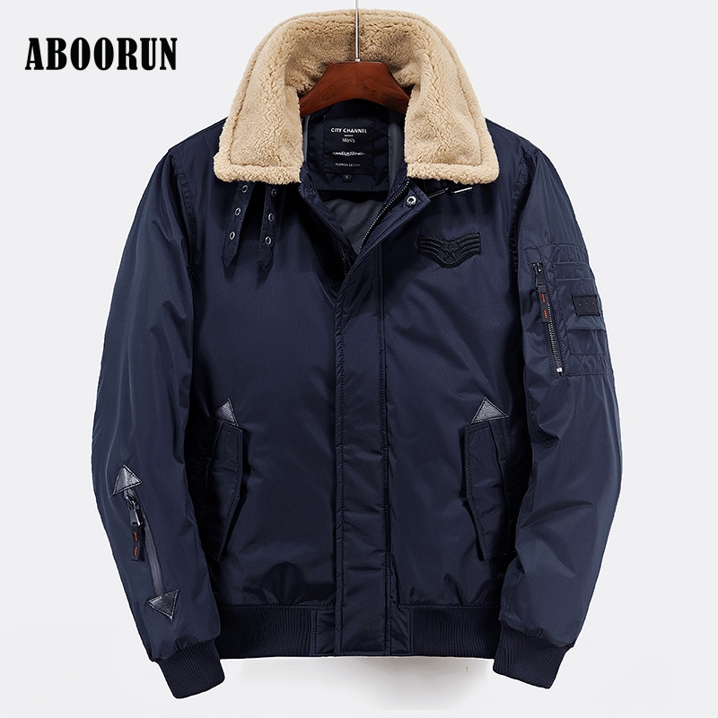 ABOORUN Europe Style Winter Jackets Mens Thick Warm Parka ...