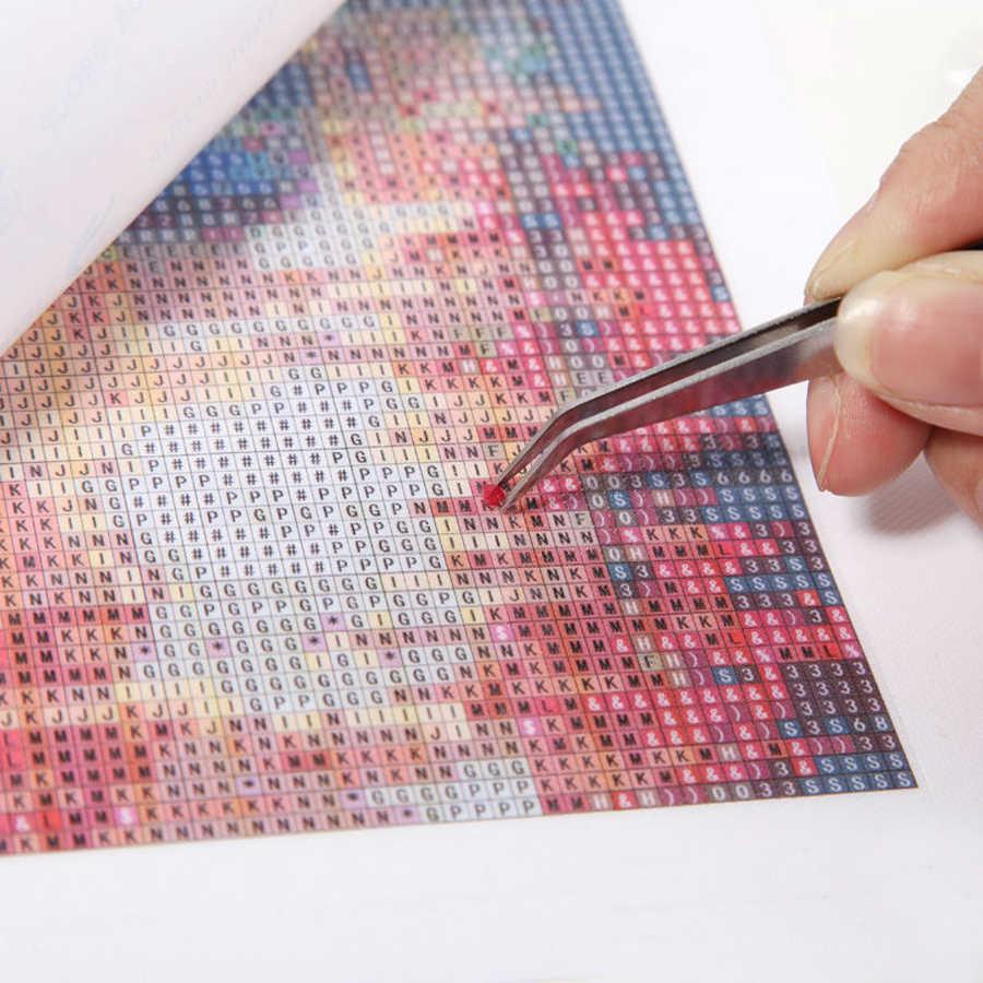 5D DIY Diamond Bordir Cross Stitch Mesin Pembuat Kopi dan Makanan Lukisan Berlian Persegi Bor Rhinestone Mosaik Dekorasi Dapur