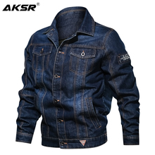 AKSR Spring Autumn Mens Casual Denim Jacket Fashion Slim Fit Men Jeans Jackets Outerwear Male Cowboy Coats Clothing