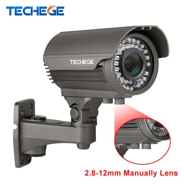Techege 1920*1080P Full HD 2.0MP Camera 48V P2P ONVIF IP66 Waterproof Outdoor IR CUT Night Vision Plug and Play POE IP Camera