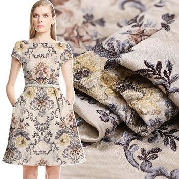 3ab8ace20 Venta caliente 2016 otoño francés importación jacquard tapiz satén moda  tela para abrigo crujiente venta al por mayor tissu au Metro paño ...