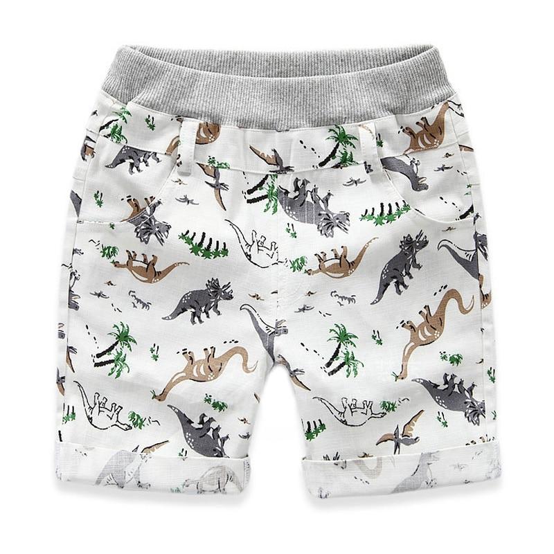 2 7 Ages Kids Boys Character Sports Shorts Summer Loose Boys Shorts Children Beach Wear Dinosaur