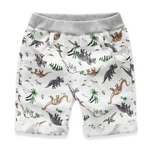 2-7 Ages Kids Boys Character Sports Shorts Summer Loose Boys Shorts Children Beach Wear Dinosaur Pattern Boys Bottom Pants