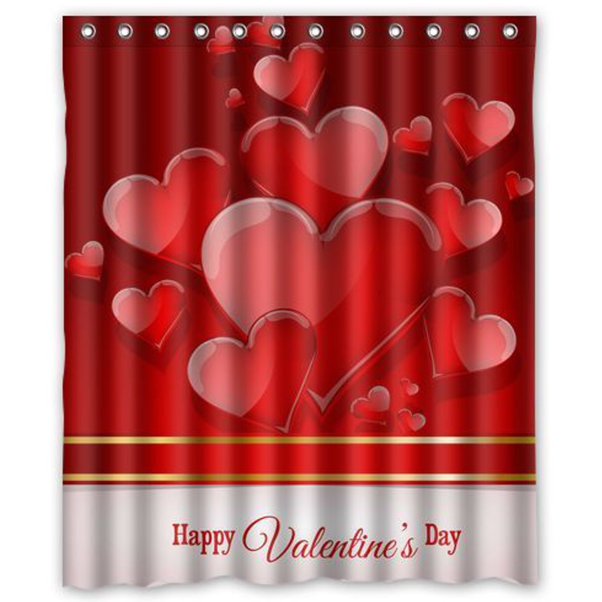60 Inch Happy Valentine\'s Day Shower Curtain Screen Cover ...