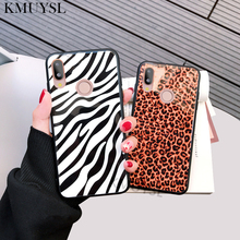 Leopard Print Case for Huawei Mate 20 Pro P20 P10 P8 Lite Y9 2018 Honor 10 9 Lite 7C Pro 7X 8X P Smart Plus Tempered Glass Cover