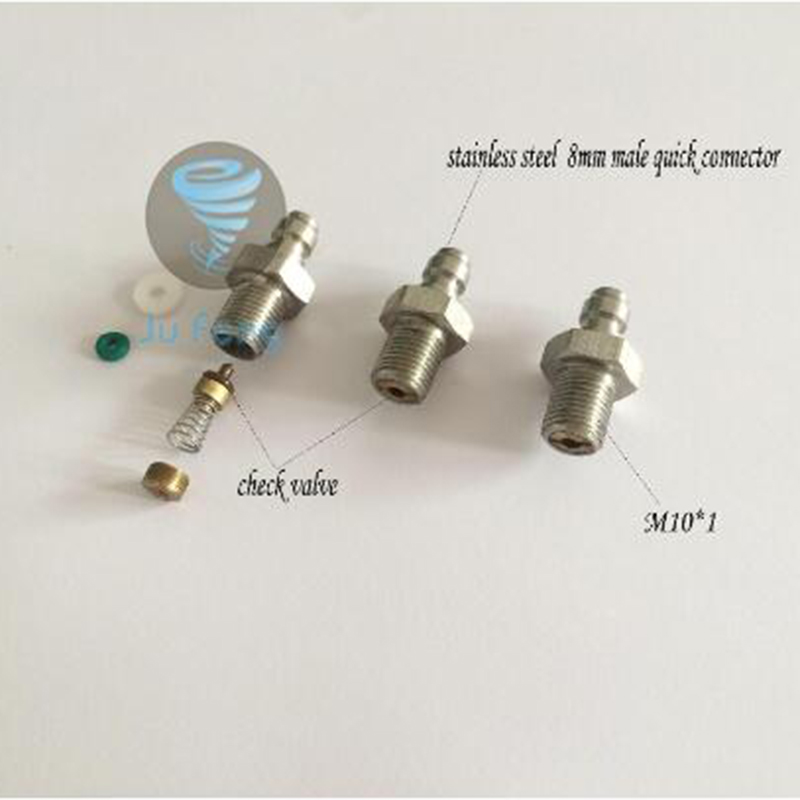 New Paintball Airsoft Air Gun PCP 8MM Male Quick Head Connection Check Valve One Way Foster Stainless Steel Fill Nipple M10*1